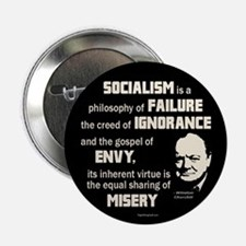 "Churchill Socialism Quote 2.25"" Button (10 pack)"