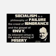Churchill Socialism Quote Rectangle Magnet