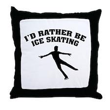 Ice Skating Throw Pillow