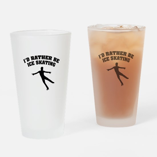 Ice Skating Drinking Glass