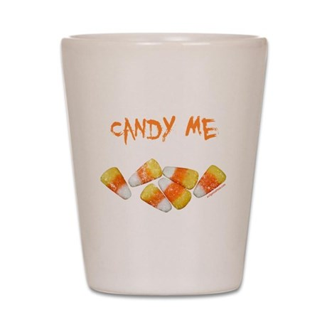 candy me funny halloween Shot Glass