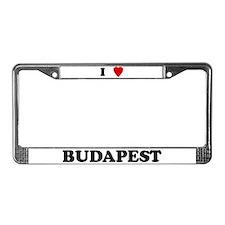 I Love Budapest License Plate Frame