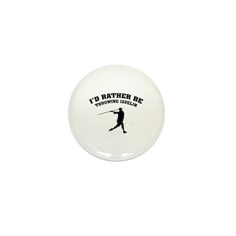 Throwing Javelin Mini Button