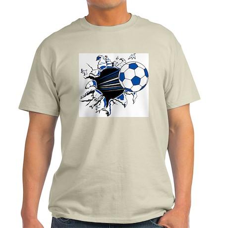 Soccer Ball Burst Ash Grey T-Shirt