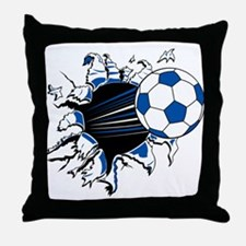 Soccer Ball Burst Throw Pillow