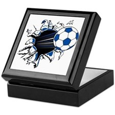 Soccer Ball Burst Keepsake Box