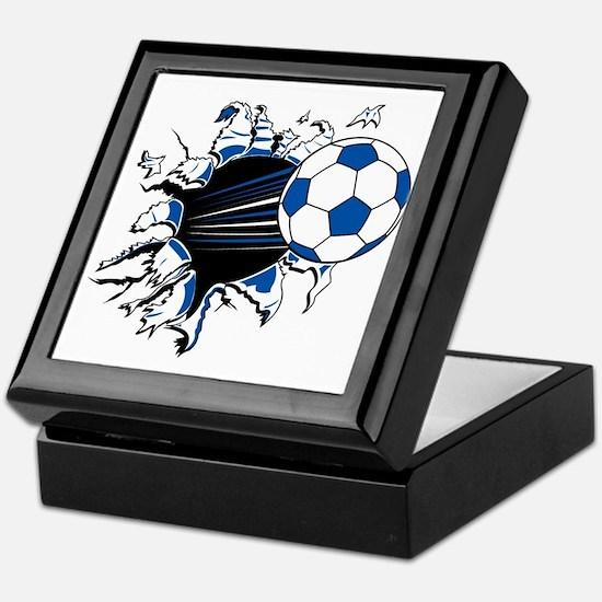 Soccer Ball Burst Keepsake Box