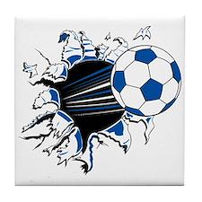 Soccer Ball Burst Tile Coaster