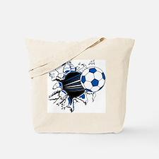Soccer Ball Burst Tote Bag