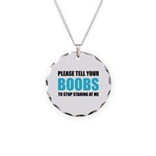Please tell your boobs Necklace