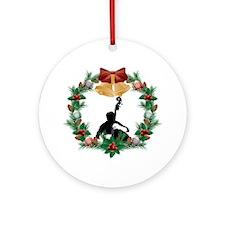 String Bass Music Christmas Ornament
