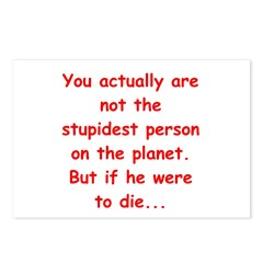 stupid joke Postcards (Package of 8)