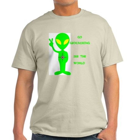 Go Geocaching See the World Light T-Shirt