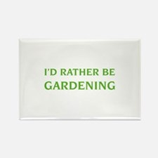 I'd rather be gardening Rectangle Magnet (10 pack)