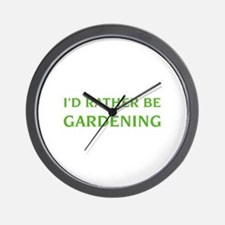 I'd rather be gardening Wall Clock