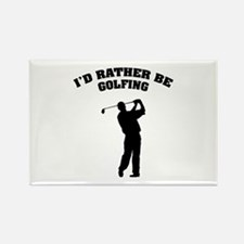 I'd rather be golfing Rectangle Magnet