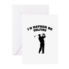 I'd rather be golfing Greeting Cards (Pk of 10)