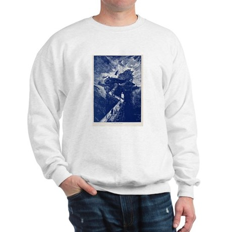 Jules Verne Airship to the Mo Sweatshirt