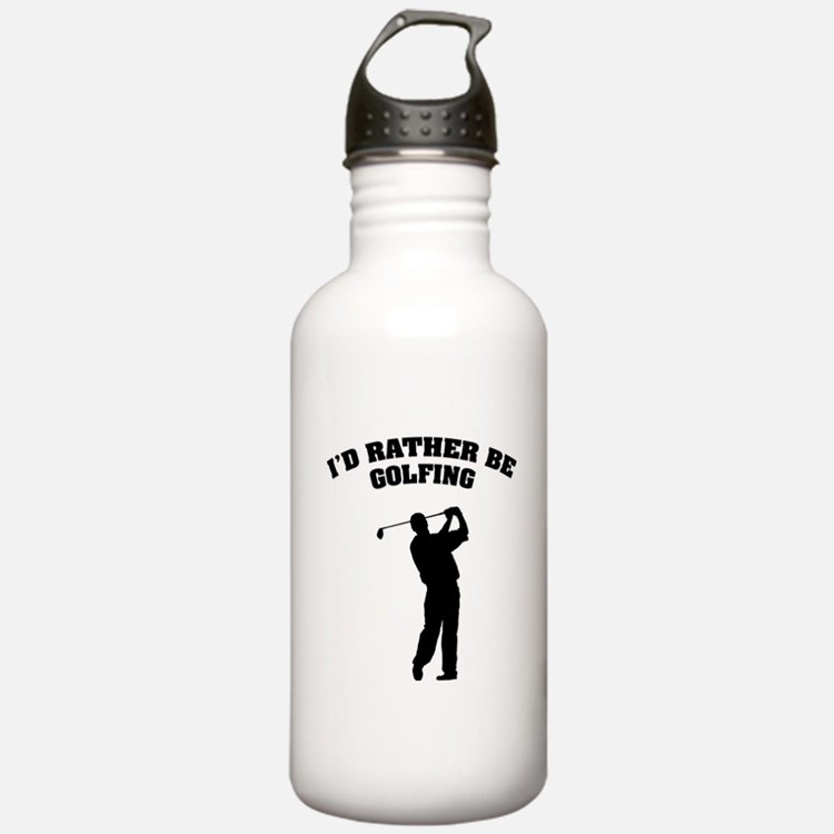 I'd rather be golfing Water Bottle