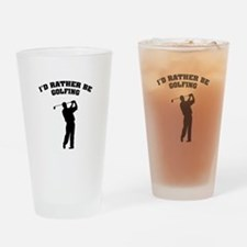 I'd rather be golfing Drinking Glass