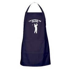 I'd rather be golfing Apron (dark)