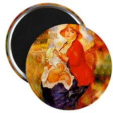 Renoir's Nursing Mother Magnet