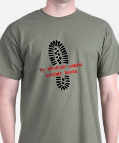 USMC Brother Combat Boots T-Shirt