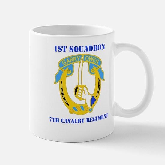 DUI - 1st Sqdrn - 7th Cavalry Regt with Text Mug