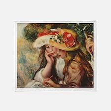 Young Artists, Renoir Throw Blanket