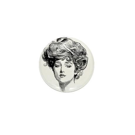 Gibson Girl Mini Button (100 pack)