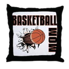 Basketball Mom Throw Pillow