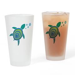 Ocean Doctor Sea Turtle Drinking Glass