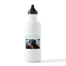 Black Labrador Retriever Water Bottle