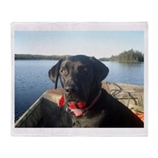 Black Labrador Retriever Throw Blanket