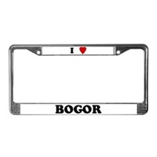 I Love Bogor License Plate Frame
