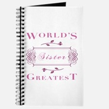 World's Greatest Sister (Rose) Journal