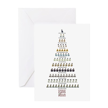 Jane Austen Twelve Days P&P Christmas Card