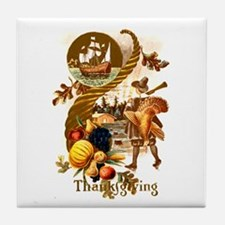 Autumn Harvest Tile Coaster