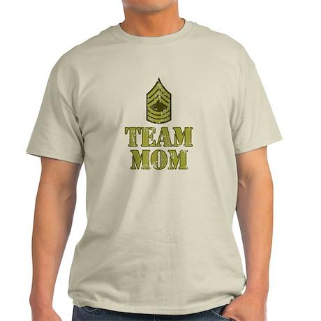 Team Mom Drill Sergeant Light T-Shirt