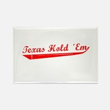 Texas Hold 'Em Rectangle Magnet (10 pack)