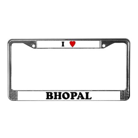 I Love Bhopal License Plate Frame