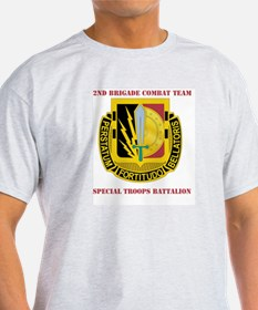 DUI - 2nd BCT - Special Troops Bn with Text T-Shirt