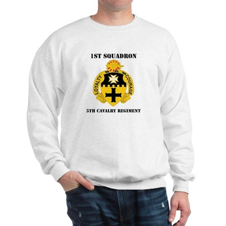 DUI - 1st Sqdrn - 5th Cavalry Regt with Text Sweat