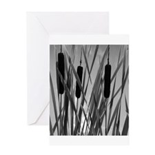 """""""Cattails II"""" Greeting Card"""