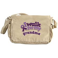 Alzheimers Walk For Grandma Messenger Bag