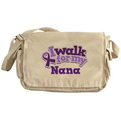 Alzheimers Walk For Nana Messenger Bag