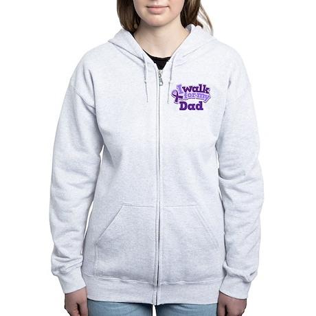 Alzheimers Walk For Dad Women's Zip Hoodie