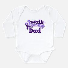 Alzheimers Walk For Dad Long Sleeve Infant Bodysui