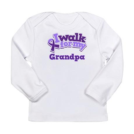 Alzheimers Walk For Grandpa Long Sleeve Infant T-S