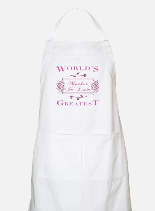 World's Greatest Mother-In-Law (Rose) Apron